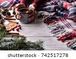 winter mood.   | Shutterstock . vector #742517278