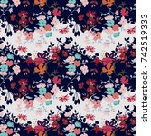 seamless floral pattern in... | Shutterstock .eps vector #742519333