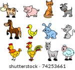 set of icons pets | Shutterstock .eps vector #74253661