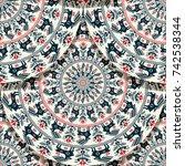 vector seamless geometric... | Shutterstock .eps vector #742538344