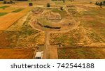 Small photo of Photo of famous archaeological site of ancient Mantineia, Peloponnese, Greece