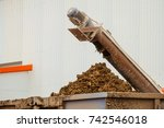 removal of poultry manure from... | Shutterstock . vector #742546018