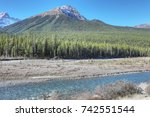 the rocky mountains with... | Shutterstock . vector #742551544