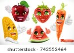 corn  apple  strawberry ... | Shutterstock .eps vector #742553464