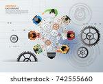 idea concept for business... | Shutterstock .eps vector #742555660