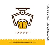 food processing industry icon.... | Shutterstock .eps vector #742555708
