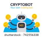 cryptobot concept.... | Shutterstock .eps vector #742556338