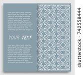 card  invitation  cover... | Shutterstock .eps vector #742558444