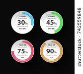 web preloader. circle download... | Shutterstock .eps vector #742559848