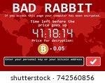 bad rabbit ransomware computer... | Shutterstock .eps vector #742560856