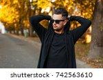 Man Wearing Sunglasses In A...