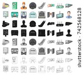 transport  public  equipment ... | Shutterstock .eps vector #742568128