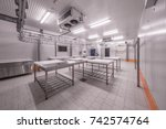 warehouse freezer | Shutterstock . vector #742574764