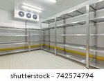 warehouse freezer | Shutterstock . vector #742574794