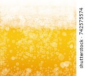 beer background with realistic... | Shutterstock .eps vector #742575574