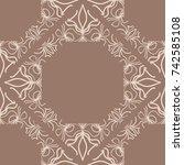 ornamental design. modern... | Shutterstock .eps vector #742585108