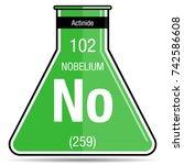 nobelium symbol on chemical...   Shutterstock .eps vector #742586608