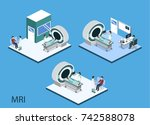 isometric 3d vector... | Shutterstock .eps vector #742588078