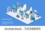 isometric 3d vector... | Shutterstock .eps vector #742588090