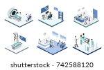 isometric 3d vector... | Shutterstock .eps vector #742588120
