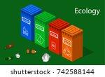 isometric 3d vector... | Shutterstock .eps vector #742588144
