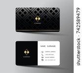 modern business card template... | Shutterstock .eps vector #742589479