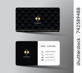 modern business card template... | Shutterstock .eps vector #742589488