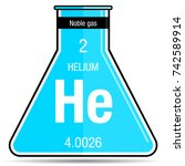 helium symbol on chemical flask....   Shutterstock .eps vector #742589914