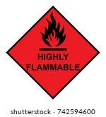 highly flammable diamond with... | Shutterstock .eps vector #742594600