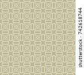 seamless geometric line pattern ... | Shutterstock .eps vector #742618744