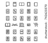 book icons. library icon set...