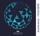 global network vector | Shutterstock .eps vector #742623898