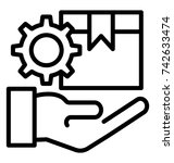 facility management vector icon   Shutterstock .eps vector #742633474