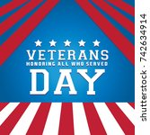 veterans day background. | Shutterstock .eps vector #742634914