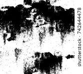 grunge black and white vector.... | Shutterstock .eps vector #742644478