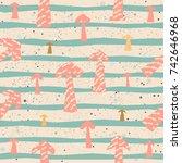 creative hand drawn seamless... | Shutterstock .eps vector #742646968