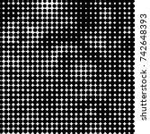 abstract grunge grid polka dot...   Shutterstock .eps vector #742648393