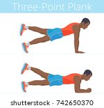 the sporty strong black young... | Shutterstock .eps vector #742650370