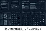hud futuristic user interface...
