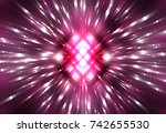 explosion background purple... | Shutterstock . vector #742655530