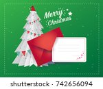 christmas card and christmas... | Shutterstock .eps vector #742656094