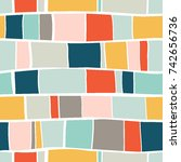 trendy creative seamless...   Shutterstock .eps vector #742656736
