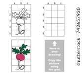 copy the picture using grid... | Shutterstock .eps vector #742657930
