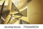 beautiful gold illustration... | Shutterstock . vector #742660024