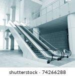 Two Escalators In New Modern...