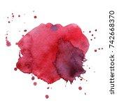 watercolor splash. paint splash. | Shutterstock . vector #742668370