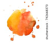 paint stain. watercolor stain.... | Shutterstock . vector #742668373