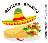mexico food background | Shutterstock .eps vector #742671820