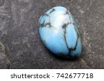 turquoise stone close up   blue ... | Shutterstock . vector #742677718