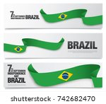 flag of brazil  vector... | Shutterstock .eps vector #742682470